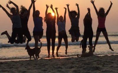 Yoga Goa: Geslaagd! Laatste dag in foto's