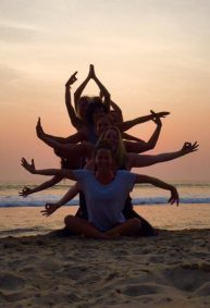 Yoga moves @ Patnem beach